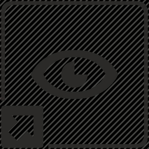 eye, preview, program, shortcut, view icon
