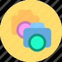 camera, dual camera, shot icon