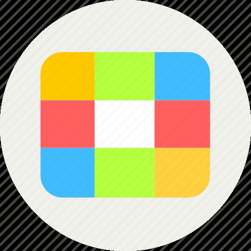 grids, screen icon