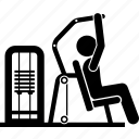 exercise, fitness, gym, leverage shoulder press, machine, workout