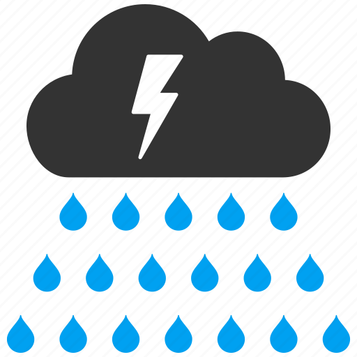 rain cloud, rainy, storm, thunderstorm, water drops, weather forecast icon