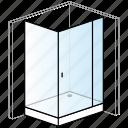 bathroom, enclosure, installation, rectangular, shower, shower tray, thick icon