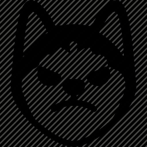 angry, emoji, emotion, expression, face, feeling, siberian husky icon