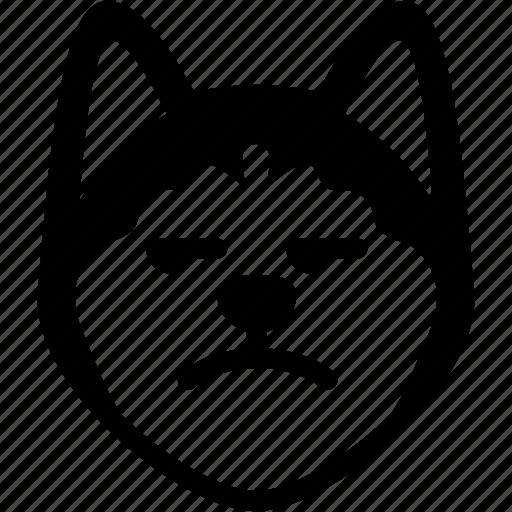 annoying, dog, emoji, emotion, expression, face, feeling icon