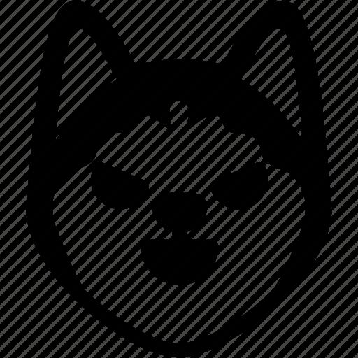 dog, emoji, emotion, evil, expression, face, feeling icon