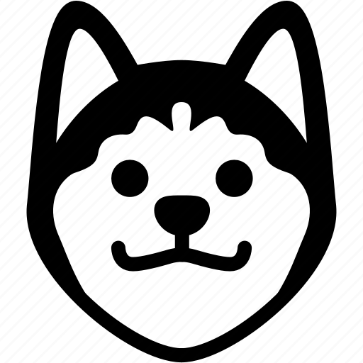 emoji, emotion, expression, face, feeling, grinning, siberian husky icon