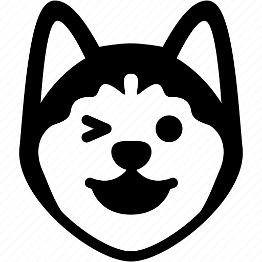 Emotion, dog, face, emoji, feeling, expression, happy icon - Download
