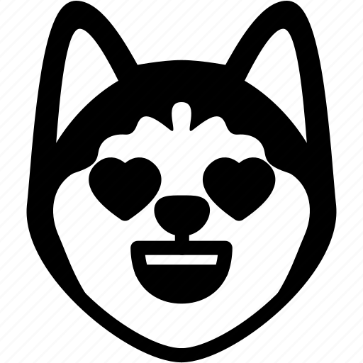 Emotion, love, dog, face, feeling, expression, emoji icon