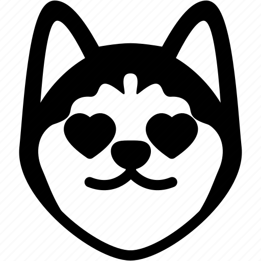 Emotion, siberian husky, love, face, feeling, expression, emoji icon