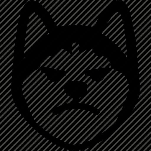 dog, emoji, emotion, expression, face, feeling, mad icon