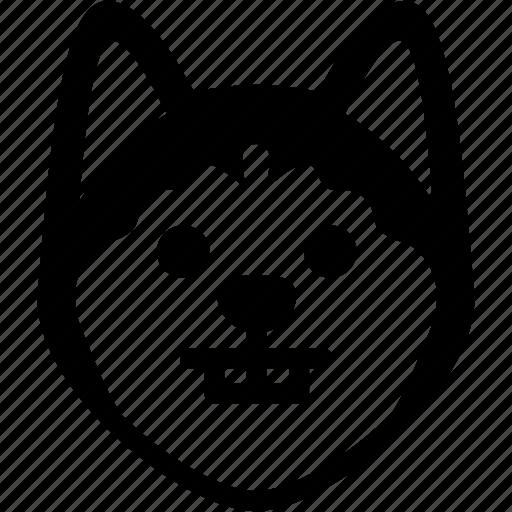 Emotion, siberian husky, face, feeling, expression, nerd, emoji icon