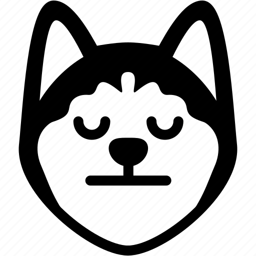 dog, emoji, emotion, expression, face, feeling, neutral icon