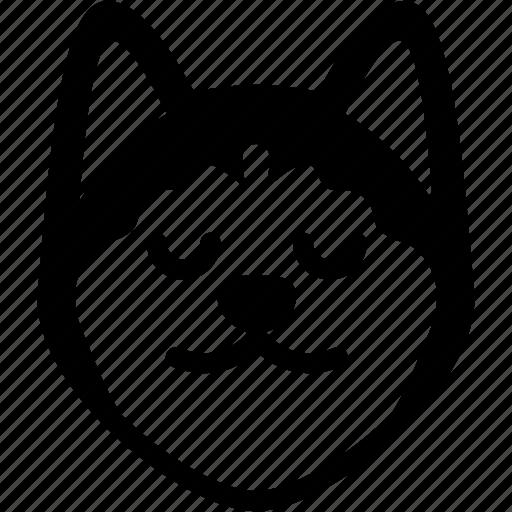 emoji, emotion, expression, face, feeling, peace, shiba icon