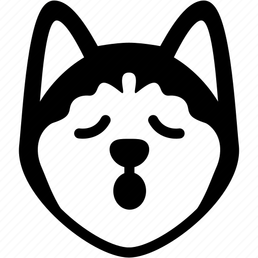 Emotion, siberian husky, relax, face, feeling, expression, emoji icon