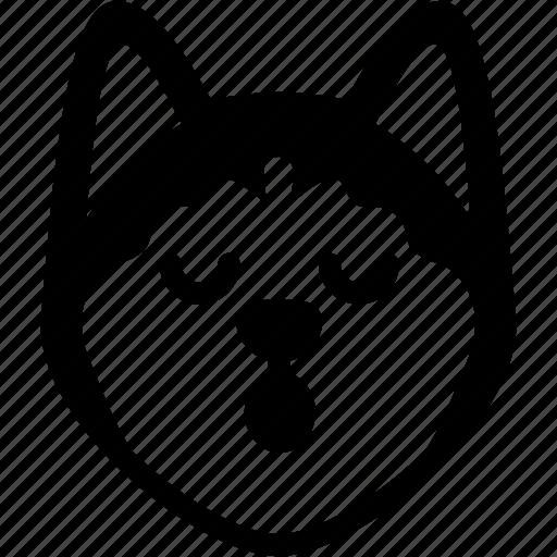 dog, emoji, emotion, expression, face, feeling, sleeping icon