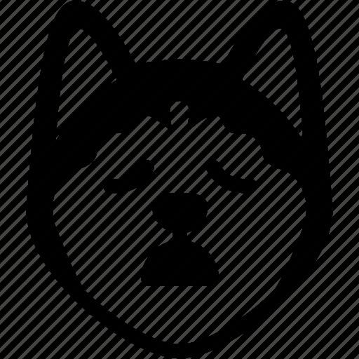 emoji, emotion, expression, face, feeling, siberian husky, tried icon