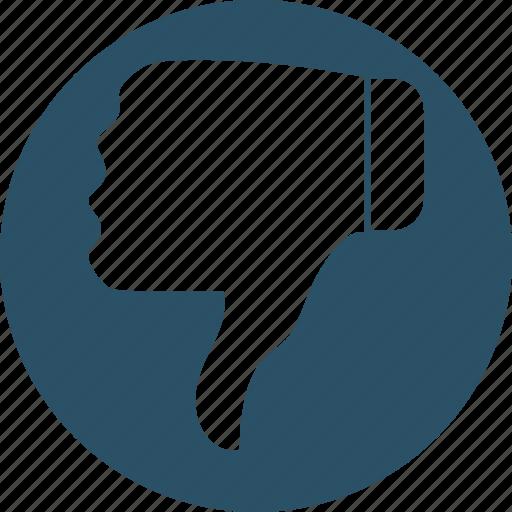 denied, dislike, negative symbol, rejected, thumb down icon