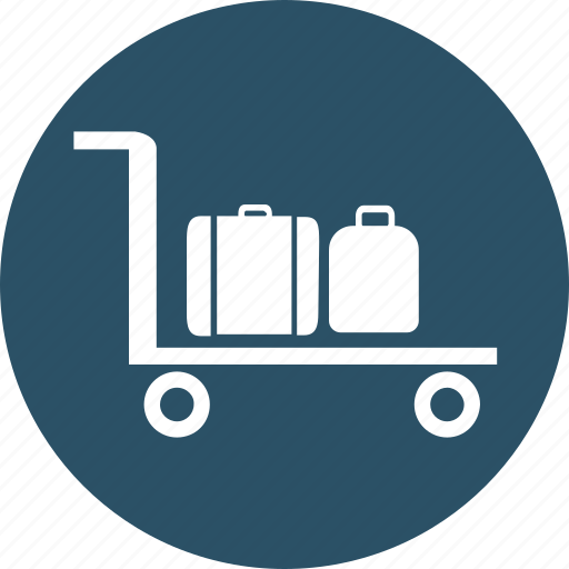 baggage crane, baggage lifter, luggage checked, luggage lifter, luggage trolley, passenger trolley icon