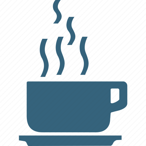 coffee cup, cup with saucer, hot coffee, hot drink, hot tea, teacup icon