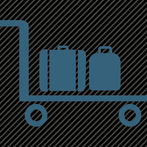 baggage crane, baggage lifter, luggage checked, luggage lifter, luggage trolley, passenger trolley, trolley icon