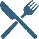 dining, eating, flatware, fork, knife, silverware, utensil icon
