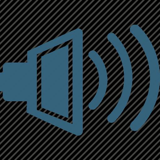 announcement, megaphone, speaker, speaker on, voice, volume icon