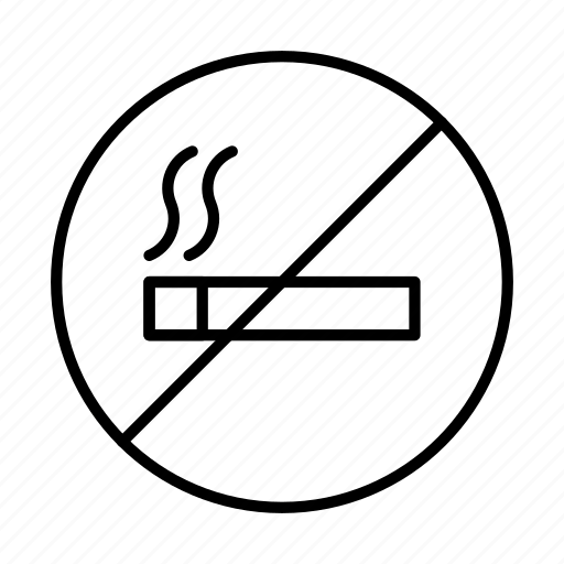 cigarette, forbidden, no smoking, prohibited, sign icon