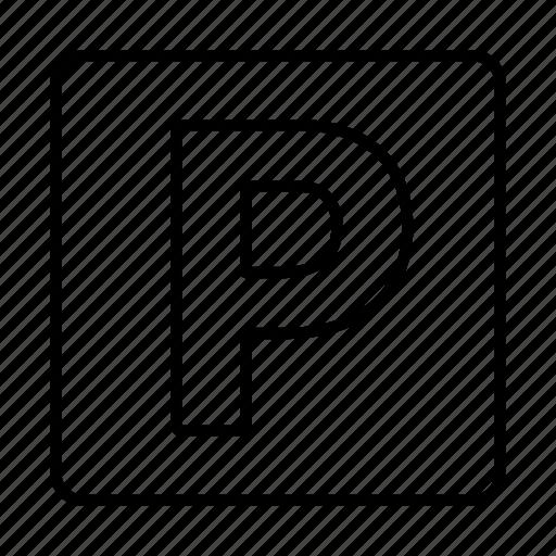 car, garage, packing, parking, sign icon