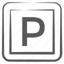 parking area, parking banner, parking direction, parking emblem, parking location, road sign