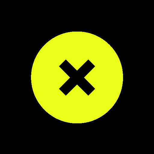 close, denied, escape icon