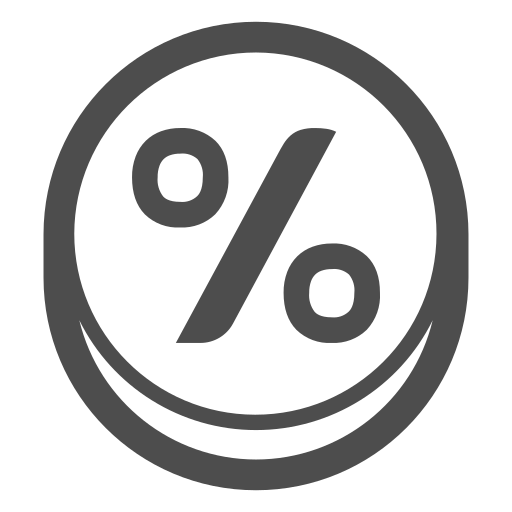 calculation, calculator, maths, percent, percentage icon