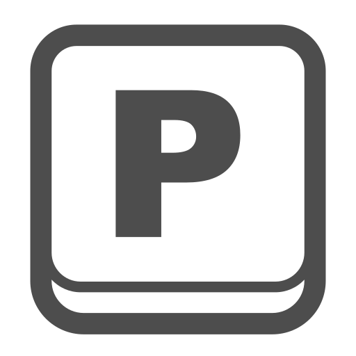park, parking, sign, signage icon