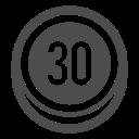 limit, sign, speed, traffic icon