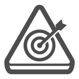 aim, alert, attention, sign, target icon