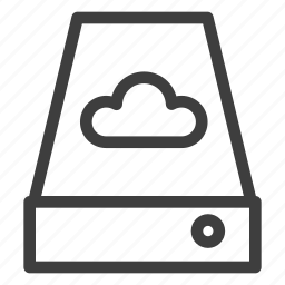 cloud, data, database, disk, storage icon