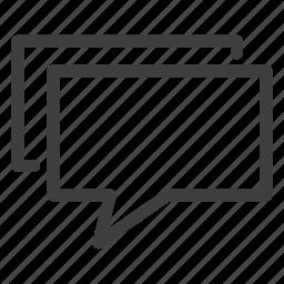 bubble, chat, comment, comments, communication icon