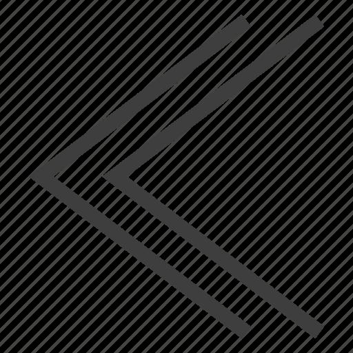 arrow, arrows, back, backward, direction, left icon