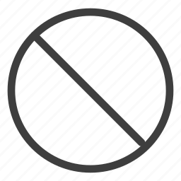 ban, cancel, forbidden, prohibited icon