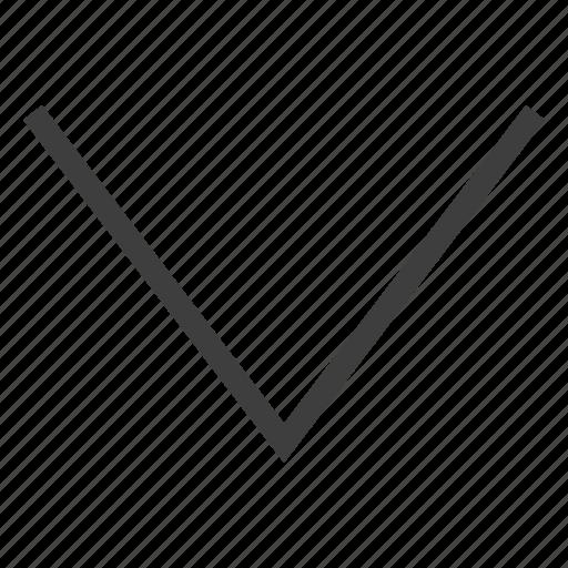 arrow, arrows, down icon
