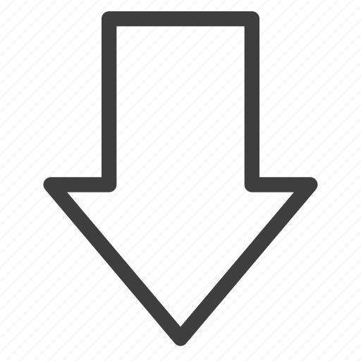 arrow, arrows, direction, down icon
