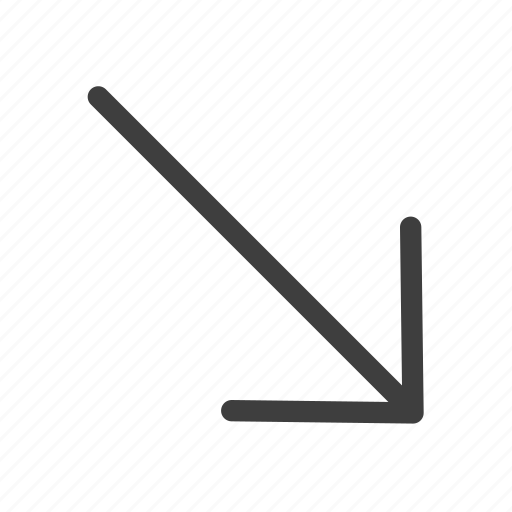 arrow, arrows, direction, lower, right icon
