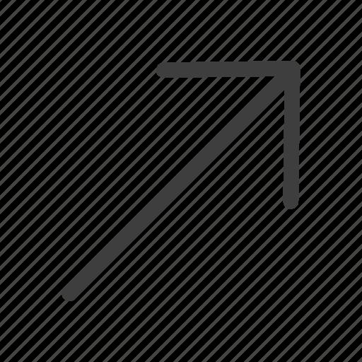 arrow, arrows, direction, right, uper icon