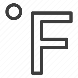 fahrenheit, temperature, thermometer icon
