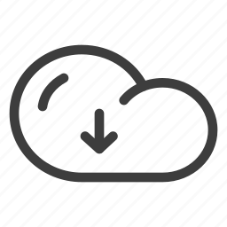 cloud, data, database, download, forecast, storage, weather icon