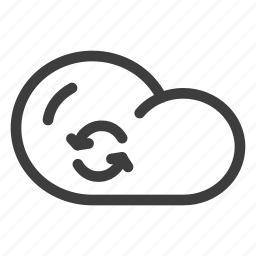 cloud, cloudy, data, forecast, refresh, storage, weather icon