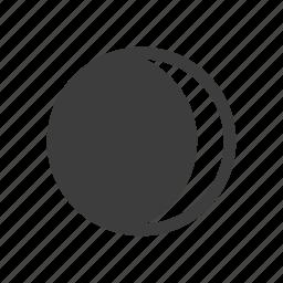 gibbous, moon, night, waning, weather icon