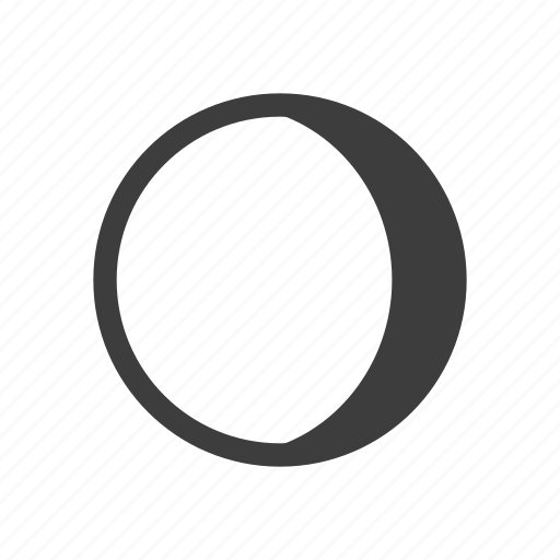 crescent, forecast, moon, night, waxing, weather icon