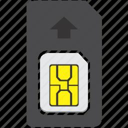 card, mobile, nano, sim, smartphone, standart icon