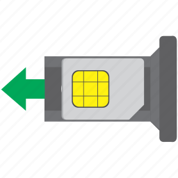 card, insert, mobile, sim, smartphone icon