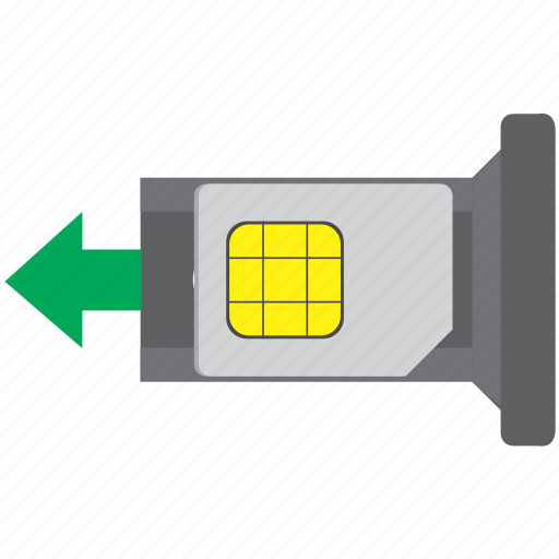 card, insert, mobile, sim, smartphone icon